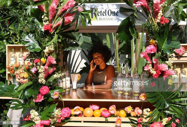 Brittany Sky at the Living Botanical bar at the launch of Ketel One Botanical on May 22 2018 in Los Angeles California