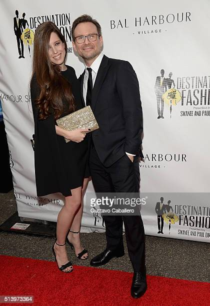 Brittany Slater and Christian Slater attends Destination Fashion 2016 to benefit The Buoniconti Fund to Cure Paralysis, the fundraising arm of The...