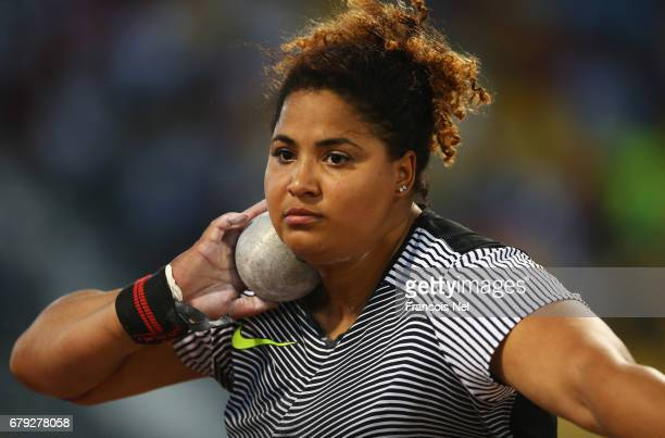 Brittany Smith of the United States competes in the Women's Shot Put during the Doha IAAF Diamond League 2017 at the Qatar Sports Club on May 5 2017...