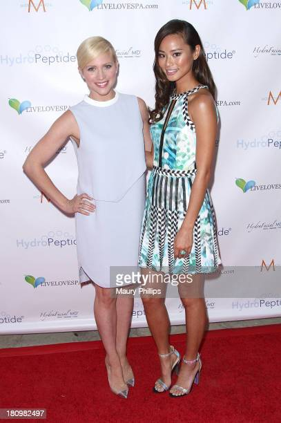Brittany Snow and Jamie Chung arrive at SPLASH an exclusive event by Live Love Spa with special guest Brittany Snow at the Hyatt Regency Century...