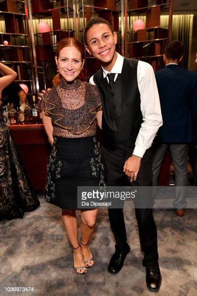 Brittany Snow and Jaylen Arnold attend 2018 TLC's Give A Little Awards on September 20 2018 at Park Hyatt in New York City