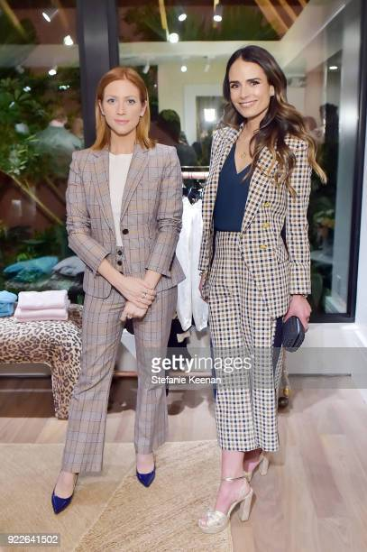 Brittany Snow and Jordana Brewster attend Veronica Beard LA Store Opening on February 21 2018 in Los Angeles California