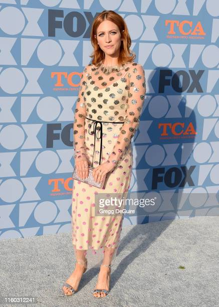 Brittany Snow arrives at the FOX Summer TCA 2019 AllStar Party at Fox Studios on August 7 2019 in Los Angeles California