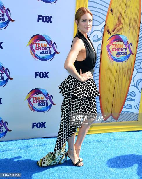Brittany Snow arrives at the FOX's Teen Choice Awards 2019 on August 11 2019 in Hermosa Beach California