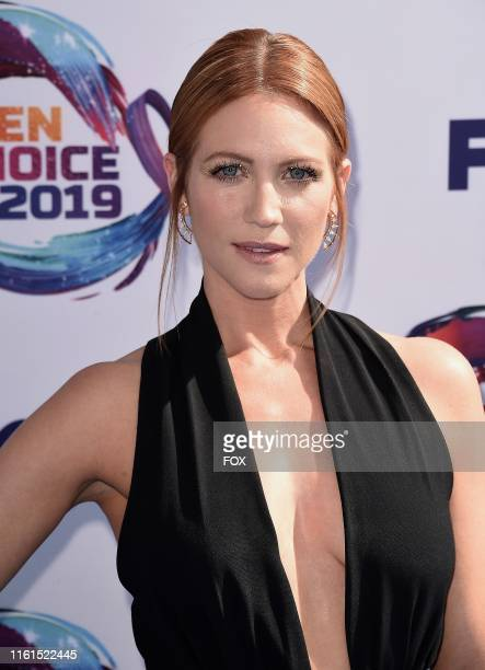 Brittany Snow arrives on the blue carpet at TEEN CHOICE 2019 airing Sunday August 11 on FOX from Hermosa Beach CA