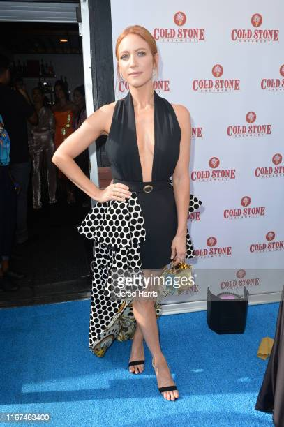Brittany Snow attends Cold Stone Creamery Backstage at 2019 Teen Choice Awards on August 11 2019 in Hermosa Beach California