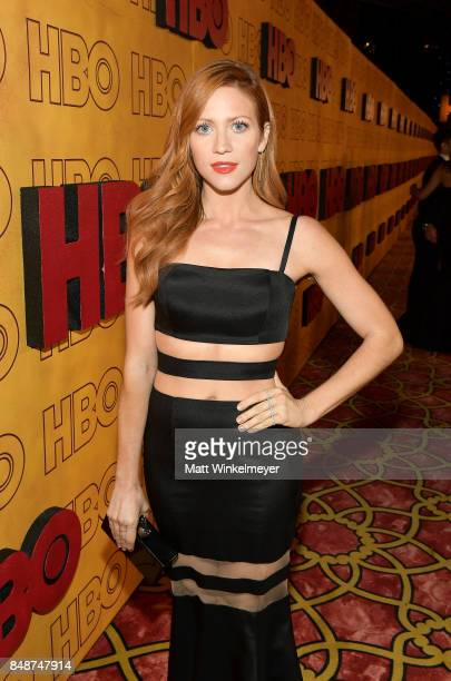 Brittany Snow attends HBO's Post Emmy Awards Reception at The Plaza at the Pacific Design Center on September 17 2017 in Los Angeles California