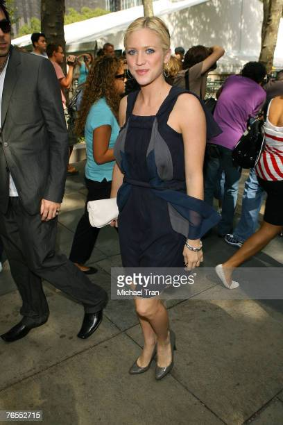 Brittany Snow attends Mercedes-Benz Fashion Week at the Tent, Bryant Park on September 5, 2007.