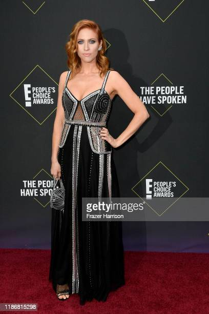 Brittany Snow attends the 2019 E People's Choice Awards at Barker Hangar on November 10 2019 in Santa Monica California
