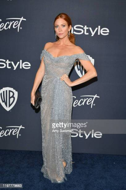 Brittany Snow attends the 21st Annual Warner Bros. And InStyle Golden Globe After Party at The Beverly Hilton Hotel on January 05, 2020 in Beverly...