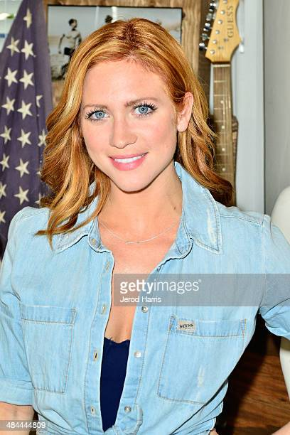 Brittany Snow attends the GUESS Hotel at the Viceroy Palm Springs on April 12 2014 in Palm Springs California