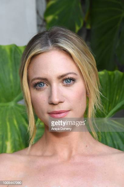 Brittany Snow attends the Jonathan Simkhai opens new retail store and brand headquarters In Los Angeles event at Jonathan Simkhai on July 25 2018 in...