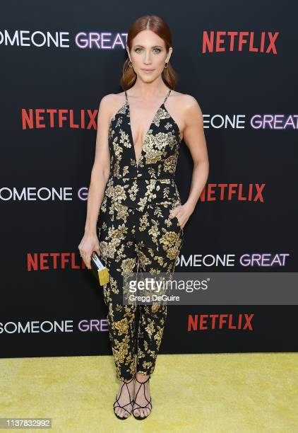 "Brittany Snow attends the Los Angeles Special Screening of Netflix's ""Someone Great"" at ArcLight Hollywood on April 17, 2019 in Hollywood, California."