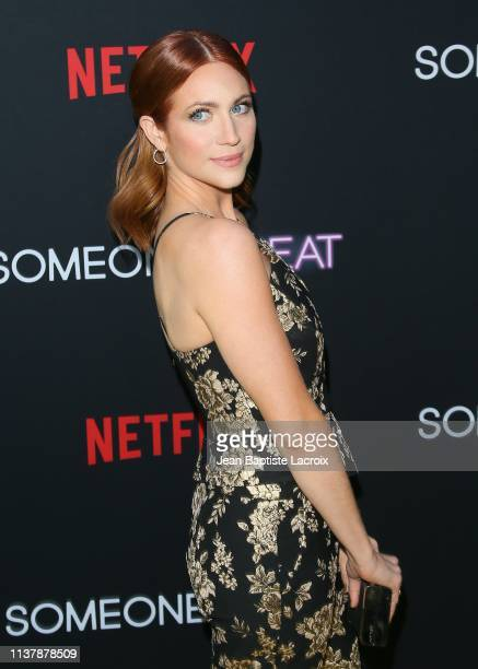 Brittany Snow attends the Los Angeles special screening of Netflix's 'Someone Great' at ArcLight Hollywood on April 17 2019 in Hollywood California