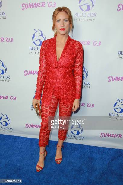 Brittany Snow attends the premiere of Blue Fox Entertainment's 'Summer '03' at the Vista Theatre on September 24 2018 in Los Angeles California
