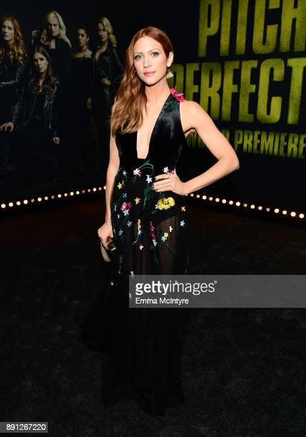 Brittany Snow attends the premiere of Universal Pictures' Pitch Perfect 3 at Dolby Theatre on December 12 2017 in Hollywood California