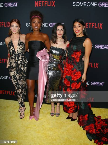 Brittany Snow DeWanda Wise Jennifer Robinson and Gina Rodriguez attend the Los Angeles special screening of Netflix's 'Someone Great' at ArcLight...