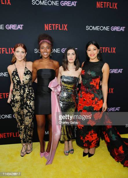 Brittany Snow DeWanda Wise Writer and Director Jennifer Kaytin Robinson and Gina Rodriguez attend Netflix Special Screening Of Someone Great at...