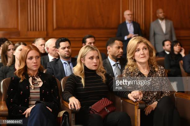 Brittany Snow Emily Osment and guest star Victoria Clark in the Expectant AF season finale episode of ALMOST FAMILY airing Wednesday Jan 29 on FOX