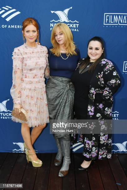 Brittany Snow Honoree Leslie Dixon and Nikki Blonsky attend the Screenwriters Tribute at Sconset Casino during the 2019 Nantucket Film Festival Day...