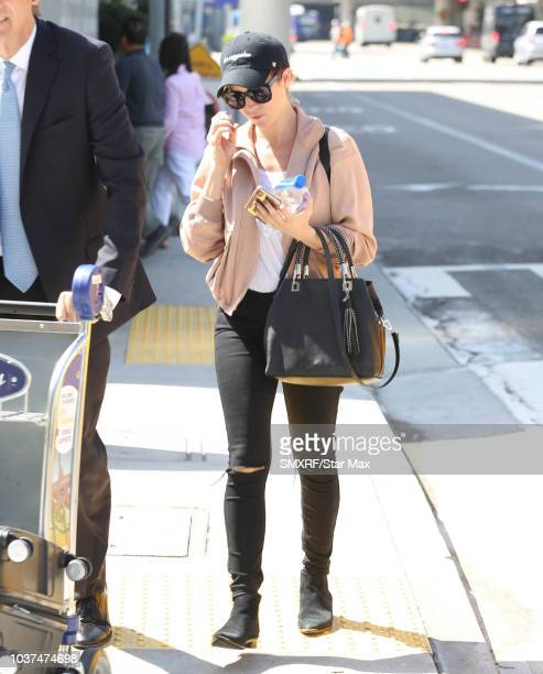 Brittany Snow is seen on September 21 2018 in Los Angeles California