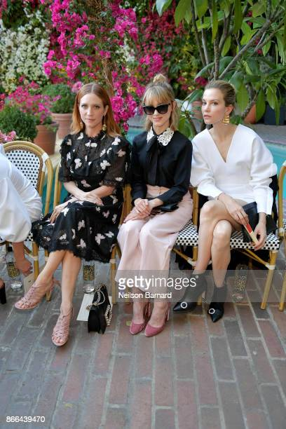 Brittany Snow Natalia Dyer and Sylvia Hoeks attend CFDA/Vogue Fashion Fund Show and Tea at Chateau Marmont at Chateau Marmont on October 25 2017 in...