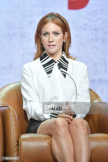 Brittany Snow of Almost Family speaks during the Fox segment of the 2019 Summer TCA Press Tour at The Beverly Hilton Hotel on August 7 2019 in...