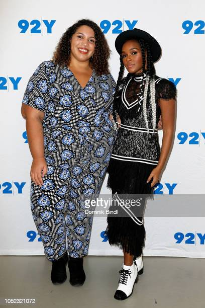 Brittany Spanos and Janelle Monae attend Janelle Monae in Conversation with Brittany Spanos at 92nd Street Y on October 16 2018 in New York City