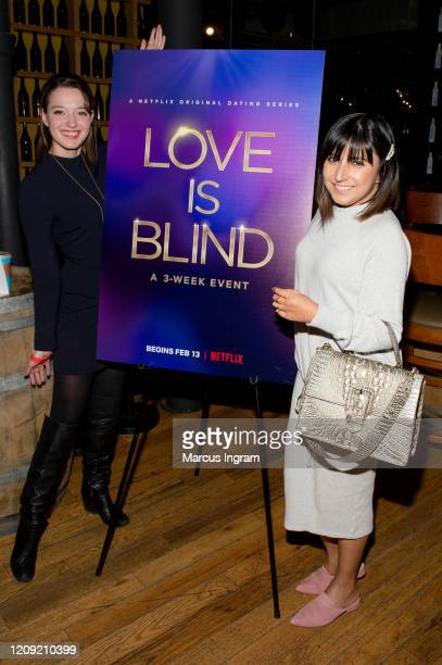 Brittany Stevenson and Henna Bakshi attend the Netflix's Love is Blind VIP viewing party at City Winery on February 27 2020 in Atlanta Georgia