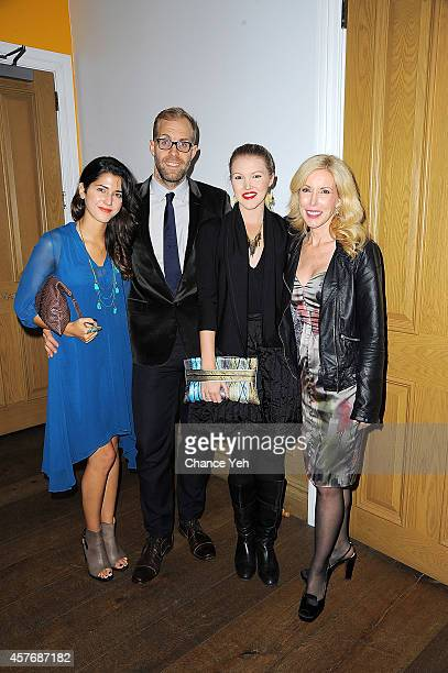 Brittany Sturrett Jesse Olson Ashley Campbell and Kim Campbell attends the 'Glen CampbellI'll Be Me' New York Premiere at Crosby Street Hotel on...