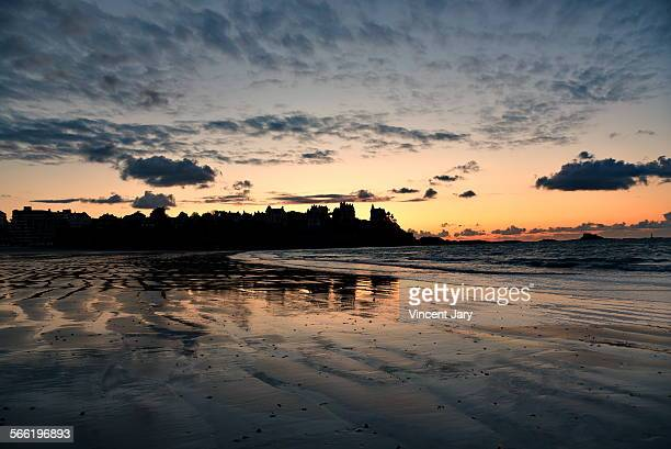 brittany sunset - dinard stock pictures, royalty-free photos & images