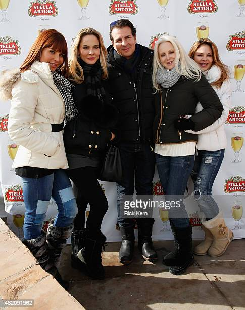 Brittany Taylor Donna Spangler Vincent de Paul Jenae Alt and Simons Fusco attend the Stella Artois Cafe at The Village at The Lift 2015 on January 24...