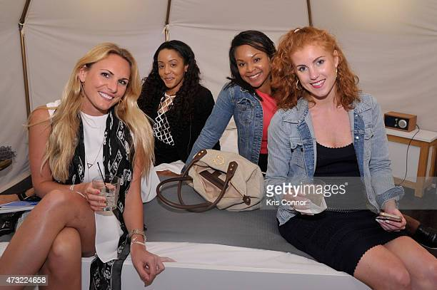 Brittany Thomson Teaira Brewer Whitney Whiten and Devin Hoffman attend the Snooze Bar Tour KickOff presented by Casper at 3330 Cady's Alley on May 13...