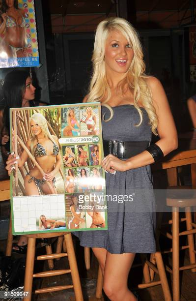Brittany Tyler Hooters Calendar 2010 attends the 2010 Hooters calendar signing at Hooters on October 7 2009 in New York City