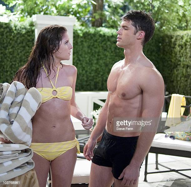 LIVE Brittany Underwood and David Gregory in a scene that airs the week of August 23 2010 on ABC Daytime's 'One Life to Live' 'One Life to Live' airs...