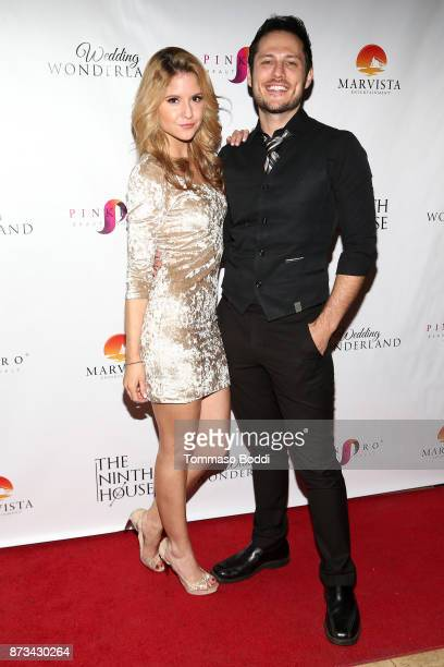 Brittany Underwood and Jake Helgren attend the Premiere Of MarVista Entertainment's Wedding Wonderland on November 12 2017 in Los Angeles California