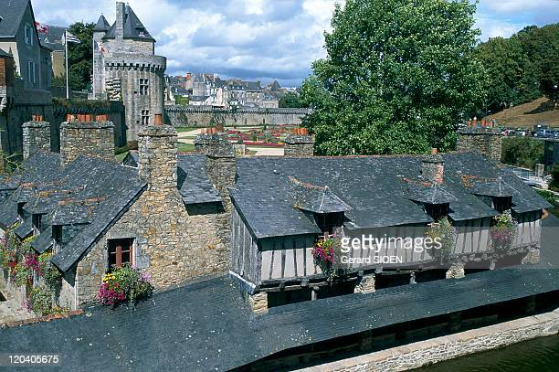 Brittany Vannes Laundries and Walls of the old city in France