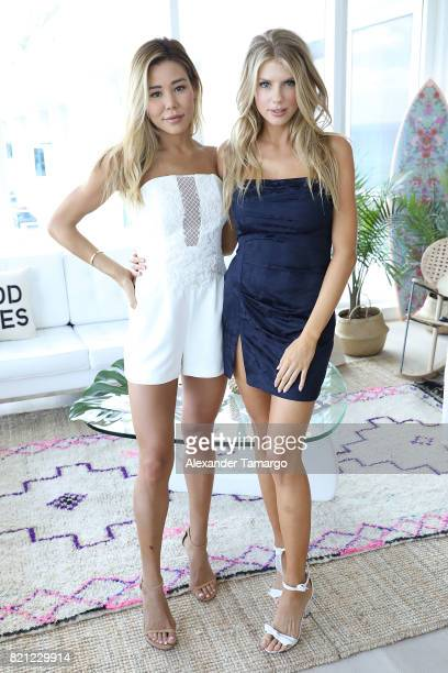 Brittany Welch and Charlotte McKinney attend Tori Praver Swimwear Hosts Miami Swim Brunch At Bollare Hub The 1 Hotel at Penthouse at 1 Hotel South...