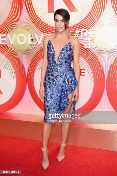Brittany Xavier attends REVOLVE Presents The 2nd Annual #REVOLVEawards at Palms Casino Resort on November 9 2018 in Las Vegas Nevada
