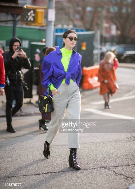Brittany Xavier is seen outside Cushnie during New York Fashion Week Autumn Winter 2019 on February 08 2019 in New York City