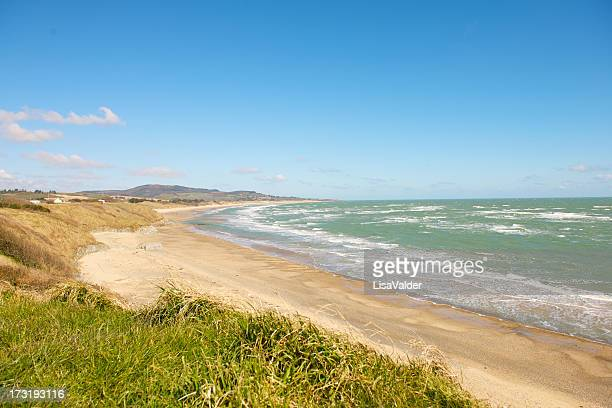 brittas bay, county wicklow, ireland - bay of water stock pictures, royalty-free photos & images