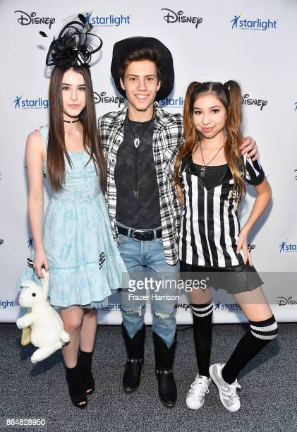 Britten Reese Healey Lofton Shaw and Lulu Lambros at the Dream Halloween 2017 Costume Party Benefitting Starlight Children's Foundation presented by...