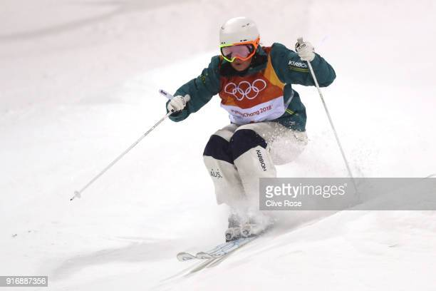 Britteny Cox of Australia competes during the Freestyle Skiing Ladies' Moguls Final on day two of the PyeongChang 2018 Winter Olympic Games at...