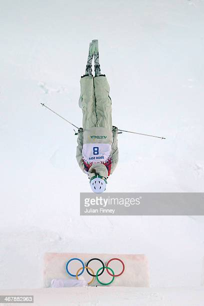 Britteny Cox of Australia competes in the Ladies' Moguls Final 3 on day 1 of the Sochi 2014 Winter Olympics at Rosa Khutor Extreme Park on February 8...
