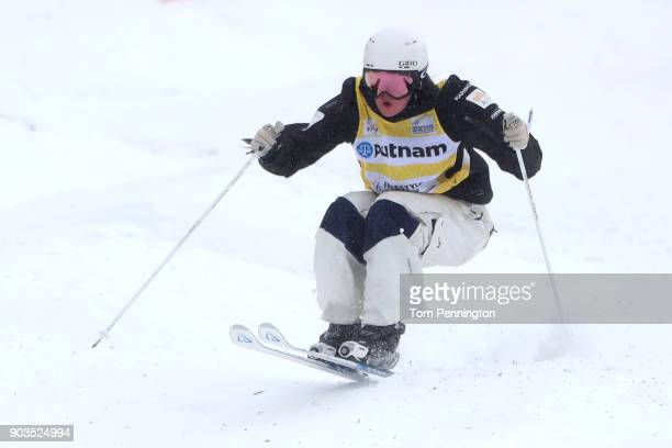 Britteny Cox of Australia competes in the Ladies' Moguls qualifying during the 2018 FIS Freestyle Ski World Cup at Deer Valley Resort on January 10...