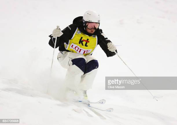 Britteny Cox of Australia in action during the Ladies Moguls final at the FIS Freestyle Ski World Cup 2016/17 Moguls at Bokwang Snow Park on February...