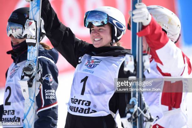 Britteny Cox of Australia wins the gold medal during the FIS Freestyle Ski Snowboard World Championships Moguls on March 08 2017 in Sierra Nevada...