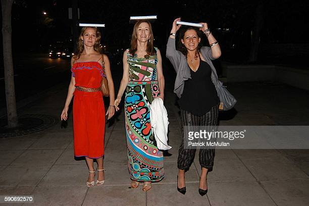 Brittian Youngblood Paige Powell and Sarah Pearlman attend Basquiat Exhibition Preview at MOCA on July 15 2005 in Los Angeles CA
