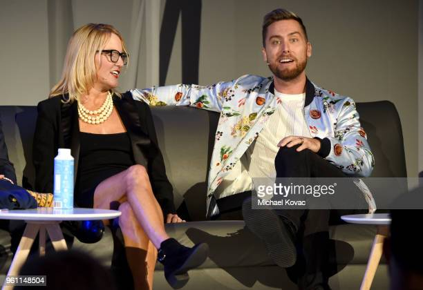 Brittingham Social Enterprise Lab Professor and Research Director Jill Kickul and Lance Bass speak onstage at the EMA IMPACT Summit at Montage...