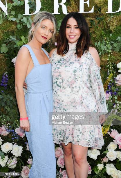 Brittney Berault and Jillian Rose Reed pose for portrait at We Are Kindred Resort Collection Launch at EP LP on June 19 2018 in West Hollywood...